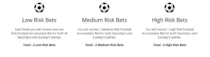 The service issues 6 accumulator selections every week