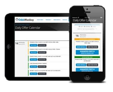 OddsMonkey - Daily Offer Calendar