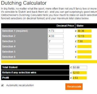 Oddschecker Calculator